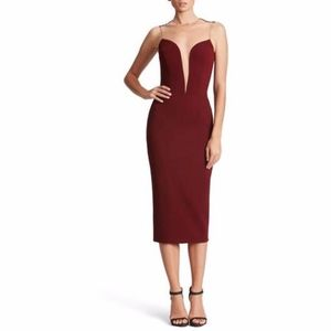 Dress the Population Helen Plunge Neck Midi Dress